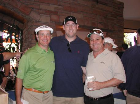 Ted Purdy, Brandon Webb and Terry Jirovsky at the 2007 Pebble Tec Charity Golf Tournament at Scottsdale's Grayhawk Golf Club.